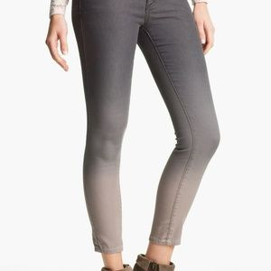 Free People Grey Ombre Skinny Jeans Size 28